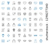 marriage icons set. collection... | Shutterstock .eps vector #1298277340