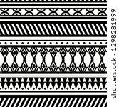 ancient maya tribal ethnic... | Shutterstock .eps vector #1298281999