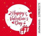happy valentine's day hand... | Shutterstock .eps vector #1298282173