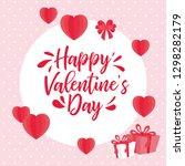 happy valentine's day hand... | Shutterstock .eps vector #1298282179