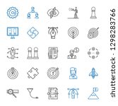 strategy icons set. collection... | Shutterstock .eps vector #1298283766