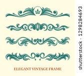 set of monogram logo template... | Shutterstock .eps vector #1298284693