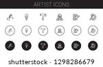 artist icons set. collection of ... | Shutterstock .eps vector #1298286679