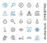 discovery icons set. collection ... | Shutterstock .eps vector #1298287960