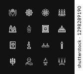 editable 16 spirituality icons... | Shutterstock .eps vector #1298289190
