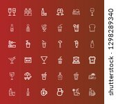 editable 36 cocktail icons for... | Shutterstock .eps vector #1298289340