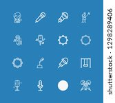 editable 16 sing icons for web... | Shutterstock .eps vector #1298289406