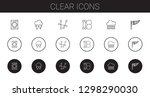 clear icons set. collection of... | Shutterstock .eps vector #1298290030