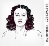 hedy lamarr vector sketch... | Shutterstock .eps vector #1298291959