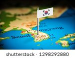 south korean marked with a flag ... | Shutterstock . vector #1298292880