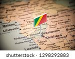 congo marked with a flag on the ... | Shutterstock . vector #1298292883