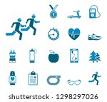 jogging and running   iconset ... | Shutterstock .eps vector #1298297026