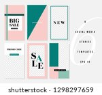 a set of six editable vertical... | Shutterstock .eps vector #1298297659