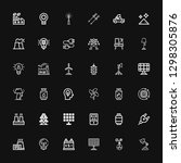 editable 36 electricity icons... | Shutterstock .eps vector #1298305876