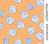 fruits seamless pattern with... | Shutterstock .eps vector #1298307940