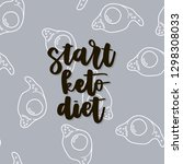 keto diet hand drawn vector... | Shutterstock .eps vector #1298308033