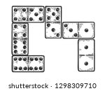 domino game play bones... | Shutterstock . vector #1298309710