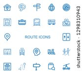 editable 22 route icons for web ... | Shutterstock .eps vector #1298310943