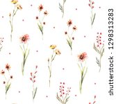 hand drawing watercolor spring ...   Shutterstock . vector #1298313283