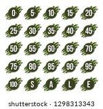 zero to one hundred percent ...   Shutterstock .eps vector #1298313343