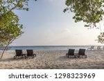 picture of sunbeds in front of... | Shutterstock . vector #1298323969