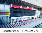 wiring plc control panel with... | Shutterstock . vector #1298325973
