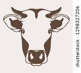 cow head  face  illustration... | Shutterstock .eps vector #1298327206
