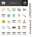 it services flat icons | Shutterstock .eps vector #1298329099