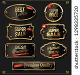 retro badges and labels golden... | Shutterstock .eps vector #1298335720