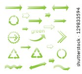 brilliance eco green arrows.... | Shutterstock .eps vector #129833594