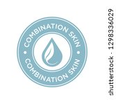 combination skin icon. label... | Shutterstock .eps vector #1298336029