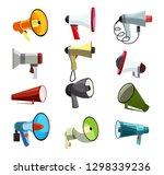 megaphones icons set. green ...   Shutterstock .eps vector #1298339236