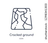 linear cracked ground icon from ... | Shutterstock .eps vector #1298341303