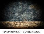 wooden desk of free space and... | Shutterstock . vector #1298342203
