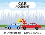 car accident concept...   Shutterstock .eps vector #1298346430