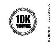 10k followers emblem  label ...