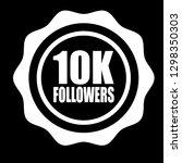 10k followers emblem  label ...