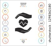 hands holding heart. medical... | Shutterstock .eps vector #1298362180