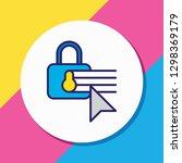 vector illustration of security ... | Shutterstock .eps vector #1298369179