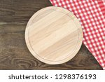 cutting board or chopping board ... | Shutterstock . vector #1298376193