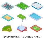 sport fields isometric. sports...   Shutterstock .eps vector #1298377753