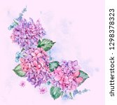 summer watercolor vintage... | Shutterstock . vector #1298378323