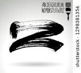 black brush stroke and...   Shutterstock .eps vector #1298381356