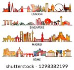 city silhouette  vector... | Shutterstock .eps vector #1298382199