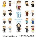 kids vector characters... | Shutterstock .eps vector #1298384503