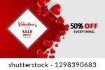 promo web banner for valentine... | Shutterstock .eps vector #1298390683