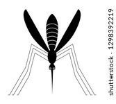 mosquito insect icon vector. | Shutterstock .eps vector #1298392219