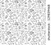 medicine icons vector doodle... | Shutterstock .eps vector #129839468