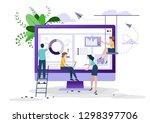business concept  social media  ... | Shutterstock .eps vector #1298397706