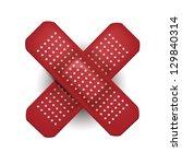 red medical plaster | Shutterstock .eps vector #129840314